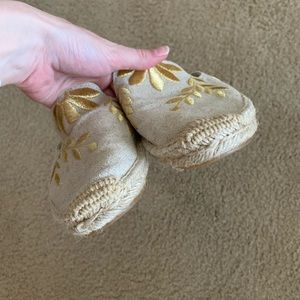 Soludos Shoes - Soludos Gold Embroidered Mules
